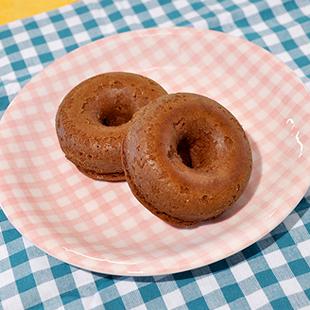 ダブルチョコ焼きドーナッツ